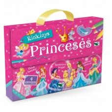 Princesės. Lagaminėlis su rankenėle (rinkinyje 4 knygos) (BROKAS!!! PALANKSTYTA DĖŽUTĖ)