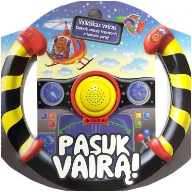 BROKUOTA!!! Pasuk vairą. Vaikiškas vairas-knyga su garsais (neveikia garso modulis) 2