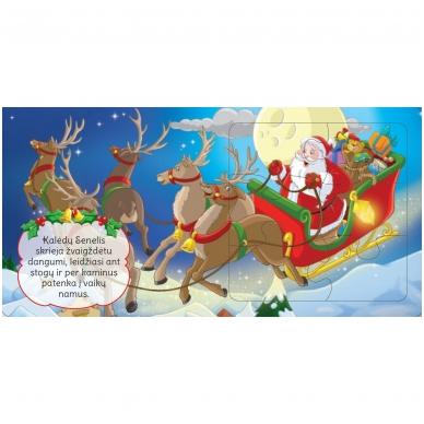 BROKAS!!! Kalėdinės dėlionės. Stebuklingas Kalėdų Senelio pasaulis (įplyšęs viršelis) 2
