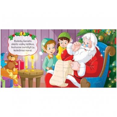 BROKAS!!! Kalėdinės dėlionės. Stebuklingas Kalėdų Senelio pasaulis (įplyšęs viršelis) 4