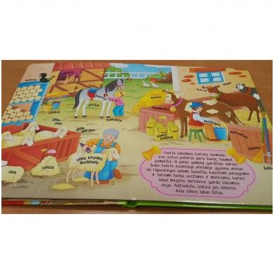 BROKAS!!! Knyga su atvartėliais. Ūkyje (perspausta) 3