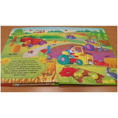 BROKAS!!! Knyga su atvartėliais. Ūkyje (perspausta) 4