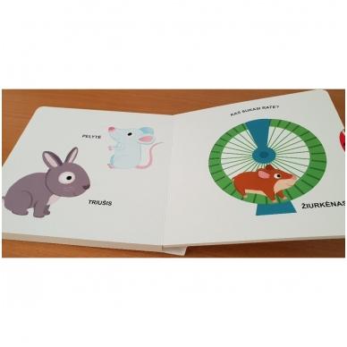 Mano pirmoji knygelė. AUGINTINIAI. Su judančiais elementais. 1-2 m.vaikams. (IŠ GRĄŽINIMŲ) 3