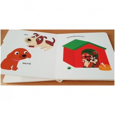 Mano pirmoji knygelė. AUGINTINIAI. Su judančiais elementais. 1-2 m.vaikams. (IŠ GRĄŽINIMŲ) 4