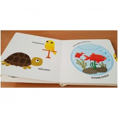 Mano pirmoji knygelė. AUGINTINIAI. Su judančiais elementais. 1-2 m.vaikams. (IŠ GRĄŽINIMŲ) 5