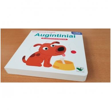 Mano pirmoji knygelė. AUGINTINIAI. Su judančiais elementais. 1-2 m.vaikams. (IŠ GRĄŽINIMŲ) 2
