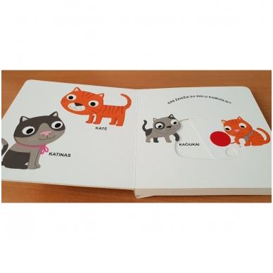 Mano pirmoji knygelė. AUGINTINIAI. Su judančiais elementais. 1-2 m.vaikams. (IŠ GRĄŽINIMŲ) 6