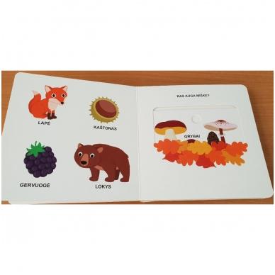 Mano pirmoji knygelė. MIŠKAS. Su judančiais elementais. 1-2 m.vaikams (IŠ GRĄŽINIMŲ) 3
