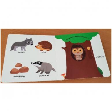Mano pirmoji knygelė. MIŠKAS. Su judančiais elementais. 1-2 m.vaikams (IŠ GRĄŽINIMŲ) 4
