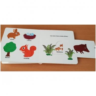 Mano pirmoji knygelė. MIŠKAS. Su judančiais elementais. 1-2 m.vaikams (IŠ GRĄŽINIMŲ) 5