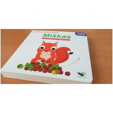 Mano pirmoji knygelė. MIŠKAS. Su judančiais elementais. 1-2 m.vaikams (IŠ GRĄŽINIMŲ) 2