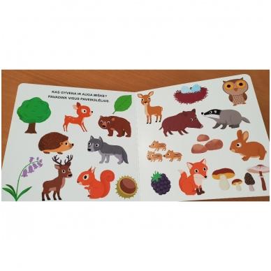 Mano pirmoji knygelė. MIŠKAS. Su judančiais elementais. 1-2 m.vaikams (IŠ GRĄŽINIMŲ) 6