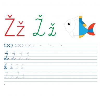 Mokausi rašyti 5-6 metų vaikams. Su flomasteriu. Nutrynęs vėl rašyk! (BROKAS, NĖRA FLOMASTERIO) 11