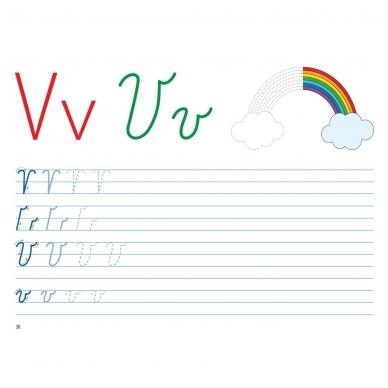 Mokausi rašyti 5-6 metų vaikams. Su flomasteriu. Nutrynęs vėl rašyk! (BROKAS, NĖRA FLOMASTERIO) 9