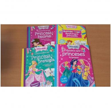 Princesės. Lagaminėlis su rankenėle (rinkinyje 4 knygos) (BROKAS!!! PALANKSTYTA DĖŽUTĖ) 3