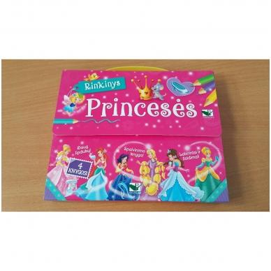 Princesės. Lagaminėlis su rankenėle (rinkinyje 4 knygos) (BROKAS!!! PALANKSTYTA DĖŽUTĖ) 2