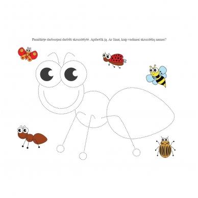 Rankos lavinimo užduotys 3-4 metų vaikams. Nutrynęs vėl rašyk (NĖRA FLOMASTERIŲ) 6