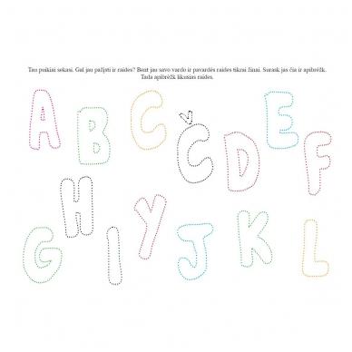 Rankos lavinimo užduotys 4-5 metų vaikams. Su flomasteriu. Nutrynęs vėl rašyk (BROKAS, NĖRA FLOMASTERIO) 4