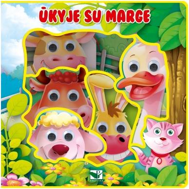 BROKAS!!! Ūkyje su Marge. Knyga su akimis (perspausta)