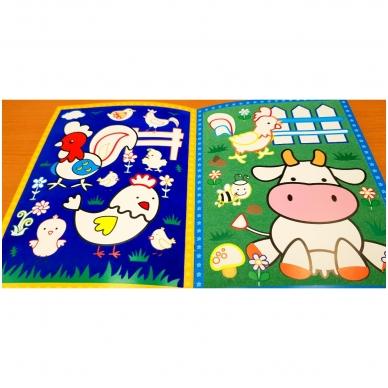 BROKAS!!! Veliūrinė spalvinimo knyga. Smagu spalvinti. 3-4 metų vaikams (iš grąžinimų) 3