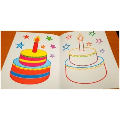 BROKAS!!! Veliūrinė spalvinimo knyga. Smagu spalvinti. 3-4 metų vaikams (iš grąžinimų) 4