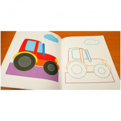 BROKAS!!! Veliūrinė spalvinimo knyga. Smagu spalvinti. 3-4 metų vaikams (iš grąžinimų) 5