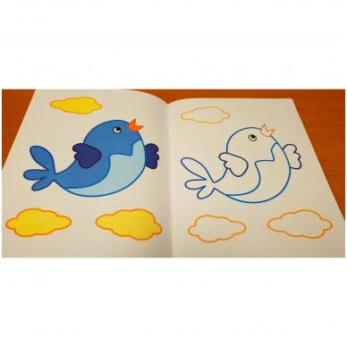 BROKAS!!! Veliūrinė spalvinimo knyga. Smagu spalvinti. 3-4 metų vaikams (iš grąžinimų) 6
