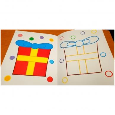 BROKAS!!! Veliūrinė spalvinimo knyga. Smagu spalvinti. 3-4 metų vaikams (iš grąžinimų) 7