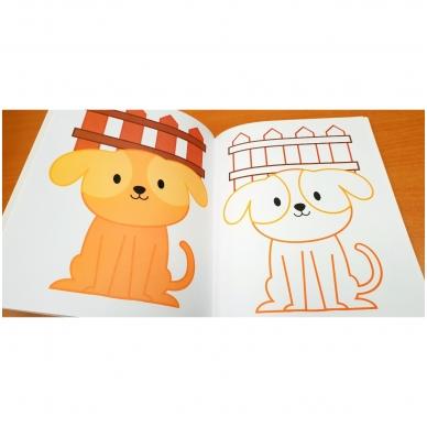 BROKAS!!! Veliūrinė spalvinimo knyga. Smagu spalvinti. 3-4 metų vaikams (iš grąžinimų) 8