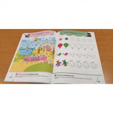 4-mečių užduotys. Garsai ir raidės, skaičiai ir skaitmenys, loginis mąstymas, rankos lavinimas 7