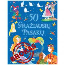 BROKUOTA!!! 50 gražiausių pasakų (įplėštas viršelis)