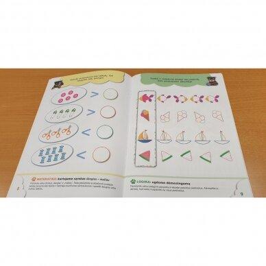 6-mečių užduotys. Garsai ir raidės, skaičiai ir skaitmenys, loginis mąstymas, rankos lavinimas 7