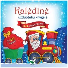 Kalėdinė užduotėlių knygelė 3-5m.vaikams (40 lipdukų)