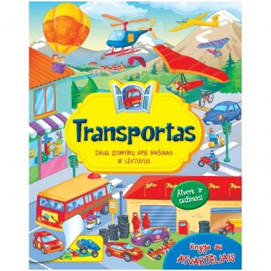 Knyga su atvartėliais. Transportas
