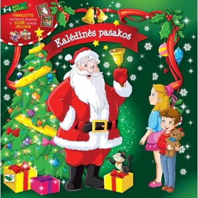 BROKAS!!! Kalėdinės pasakos (rinkinyje 2 knygelės ir dėlionė) (iš grąžinimų)