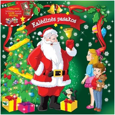 Kalėdinės pasakos (rinkinyje 2 knygelės ir dėlionė)