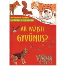 Ar pažįsti gyvūnus? [knyga su lipdukais + plakatas]