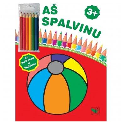 Aš spalvinu 3+. Su pieštukais ir lipdukais