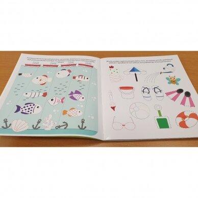 Bitutės rankos lavinimo užduotėlės 5-6 metų vaikams (su flomasteriu) 3