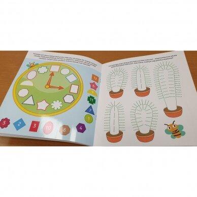 Bitutės rankos lavinimo užduotėlės 5-6 metų vaikams (su flomasteriu) 4