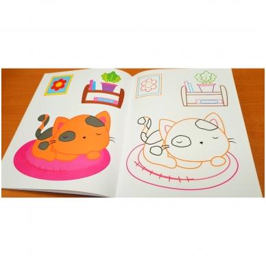 Blizgioji spalvinimo knyga. Augintiniai 4