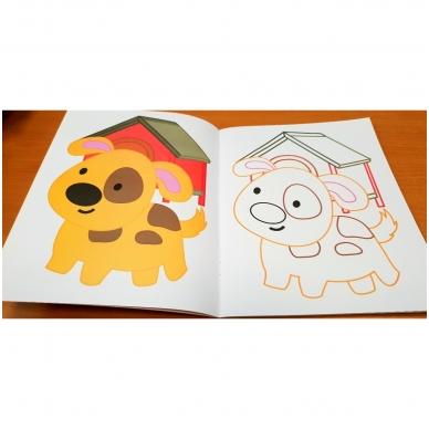 Blizgioji spalvinimo knyga. Augintiniai 5