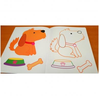 Blizgioji spalvinimo knyga. Augintiniai 6