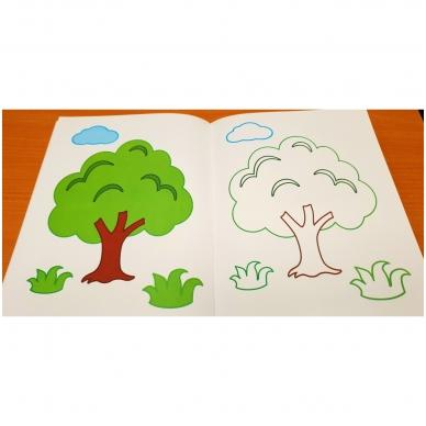 Blizgioji spalvinimo knyga. Ūkio gyvūnai 5