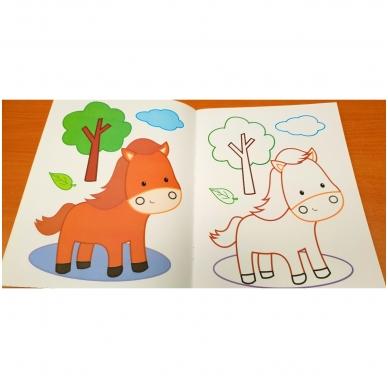 Blizgioji spalvinimo knyga. Ūkio gyvūnai 6