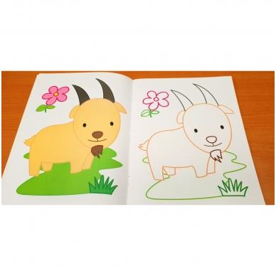 Blizgioji spalvinimo knyga. Ūkio gyvūnai 7