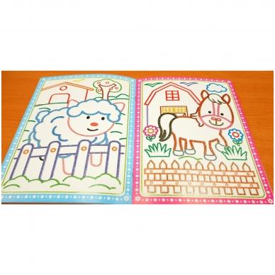 Blizgioji spalvinimo knyga. Ūkio gyvūnai 2