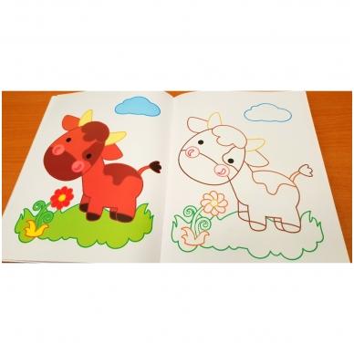 Blizgioji spalvinimo knyga. Ūkio gyvūnai 8
