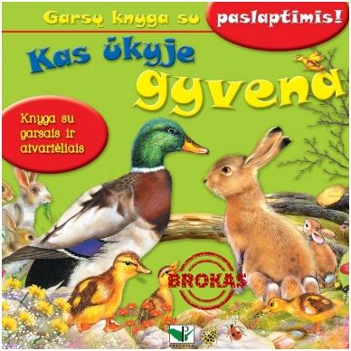 BROKUOTA!!! Kas ūkyje gyvena. Garsų knyga su paslaptimis. BROKUOTA!!!