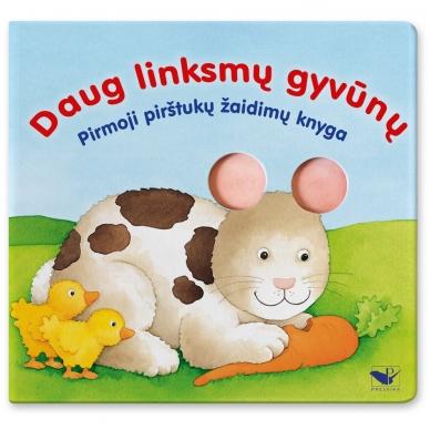 Daug linksmų gyvūnų. Pirmoji pirštukų žaidimų knyga